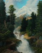 "A. D. Greer ""Mountain with Waterfall"""